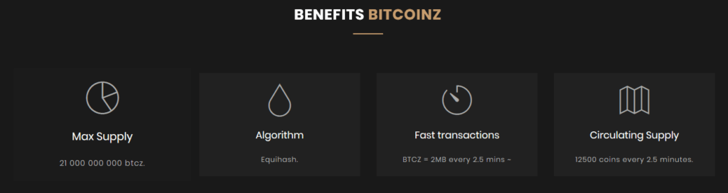 Benifits Of BitcoinZ